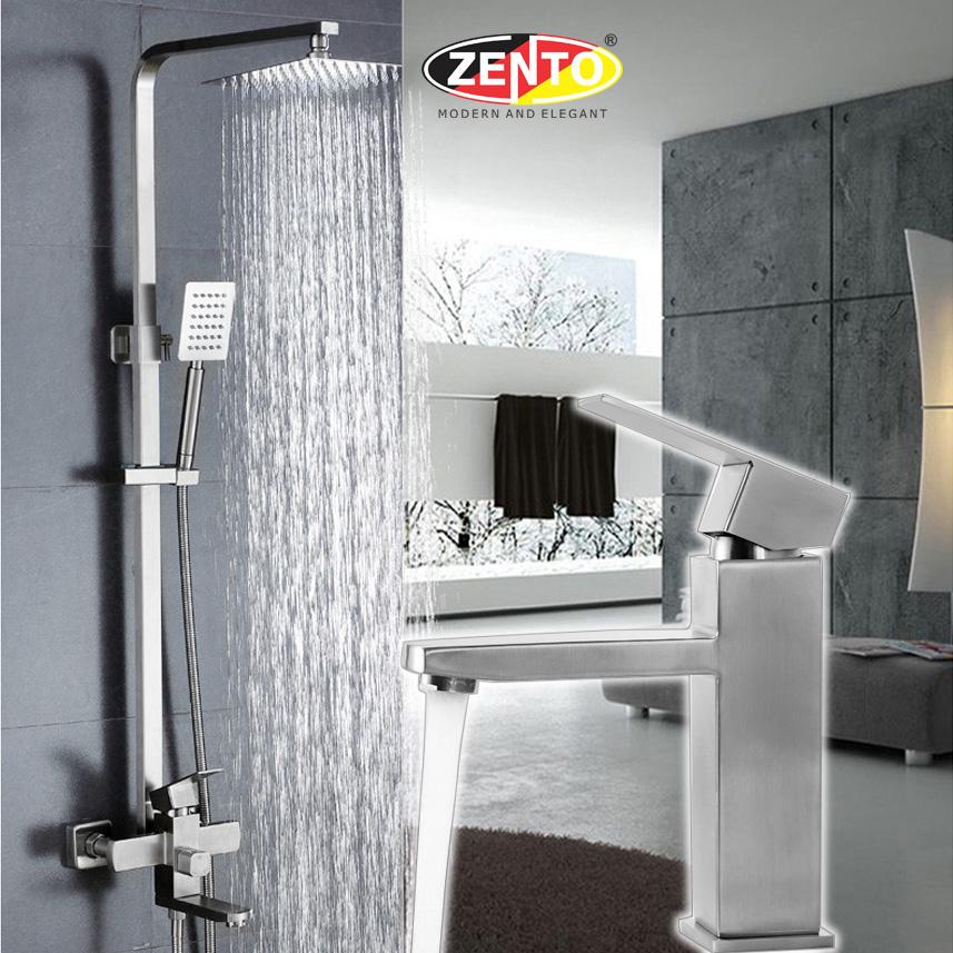 Combo sen cây & vòi lavabo inox304 Zento KM102-EC