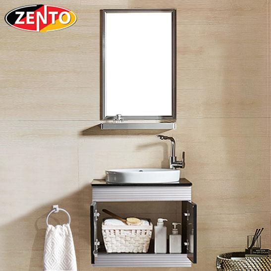 Bộ tủ, chậu, kệ gương Lavabo inox ZT-LV555