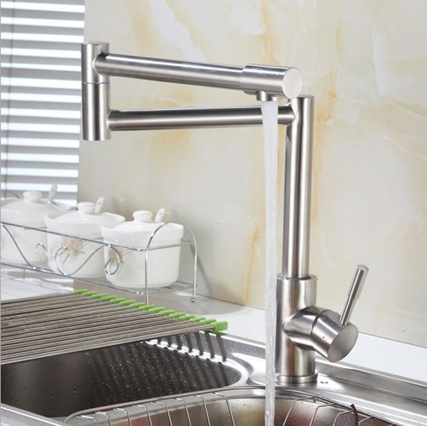 Bộ vòi rửa bát nóng lạnh inox 304 SUS5568