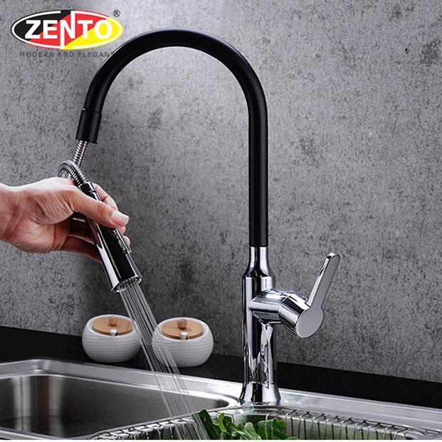 Vòi rửa chén bát nóng lạnh Pull-Down Spray ZT2090-B (Dây rút)