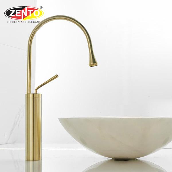 Vòi chậu Lavabo nóng lạnh dương bàn Art Brushed Gold ZT2196-1