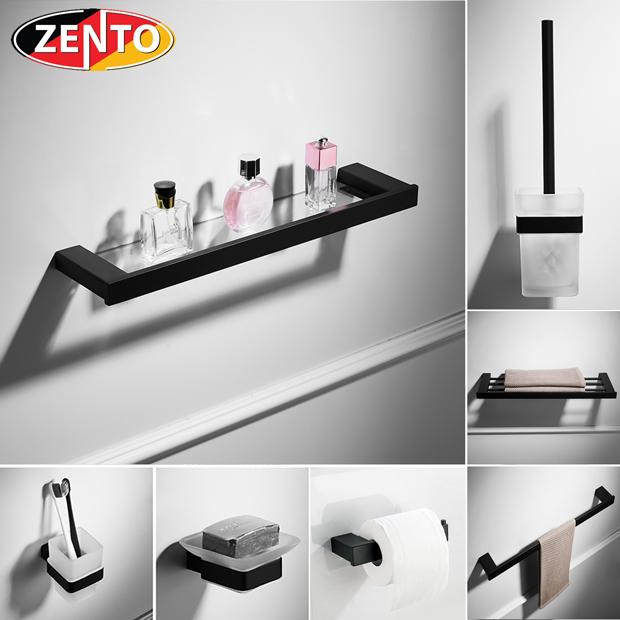 Bộ 7 phụ kiện phòng tắm inox304 Black series HC6800-1