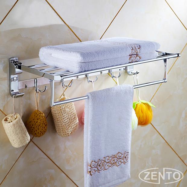 Giá để đồ kết hợp treo khăn Zento ZT-SV6205-63 (new)