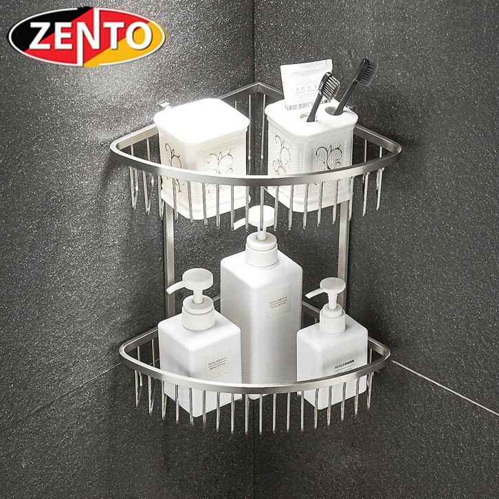 Giá góc 2 tầng inox304 Zento HC1281-1V