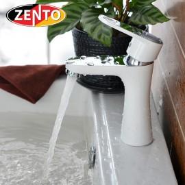 Vòi chậu rửa nóng lạnh mạ sứ Zento ZT2086