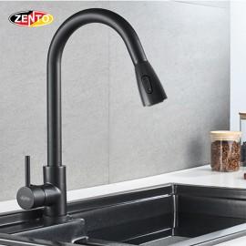 Vòi rửa chén bát nóng lạnh Pull-Down Spray ZT5517-1 Black (Dây rút)