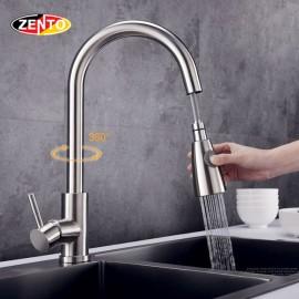 Vòi rửa chén bát nóng lạnh Pull-Down Spray SUS5578-EC (dây rút)