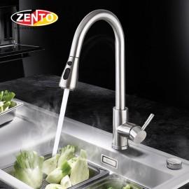 Vòi rửa bát nóng lạnh Pulldown Spray ZT5517-Brushed (Dây rút)