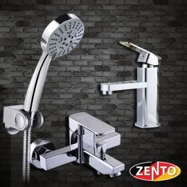 Cặp đôi sen tắm và vòi lavabo Zento CB007
