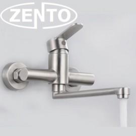 Vòi rửa bát gắn tường nóng lạnh inox Zento SUS4650