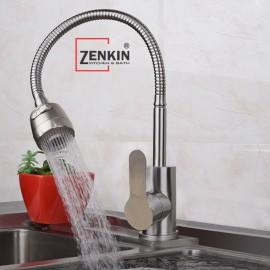 Vòi rửa chén bát nóng lạnh thân mềm inox304 Zenkin ZK25022