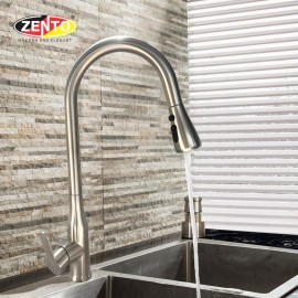 Vòi rửa bát nóng lạnh inox 304 Zento SUS5506-1 (Dây rút)