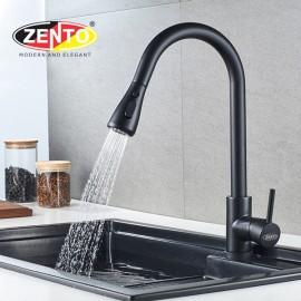 Vòi rửa bát nóng lạnh Pulldown Spray ZT5517-Black (Dây rút)