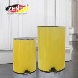 Thùng rác inox đạp chân nắp êm HC1240-Yellow