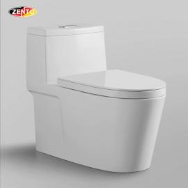 Bàn cầu 1 khối Luxury Zento BC3882 (nắp nhựa UF)