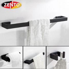 Bộ 4 phụ kiện nhà tắm inox 304 Black series HC6850
