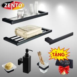 Bộ 6 phụ kiện phòng tắm inox304 Black series HC6800-3