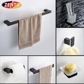 Bộ 6 phụ kiện phòng tắm inox 304 Black series HC6860