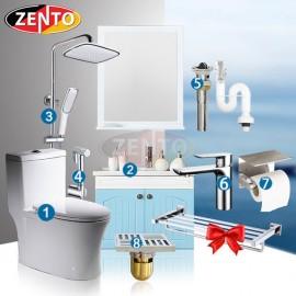 Combo 8 thiết bị vệ sinh Zento BS09