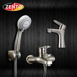 Cặp đôi sen tắm và vòi lavabo inox304 Zento CB008