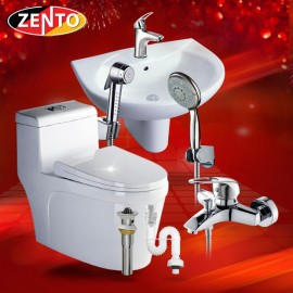 Bộ 6 sản phẩm thiết bị vệ sinh Zento  BS01