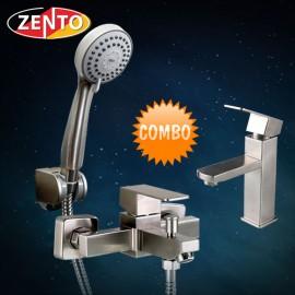 Cặp đôi sen tắm và vòi lavabo inox Zento CB006