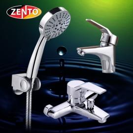 Cặp đôi sen tắm và vòi lavabo Zento CB009