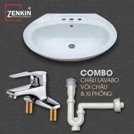 Combo 3 thiết bị vệ sinh Zenkin ZK09