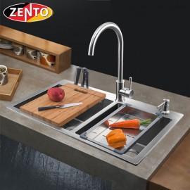 Chậu rửa bát inox 2 hố cân Zento HD7843C-201