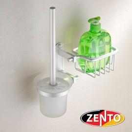 Bộ chổi cọ toilet kèm giá đựng đa năng Zento OLO 032