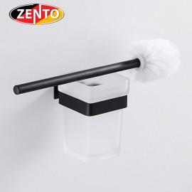 Bộ chổi cọ toilet inox304 Black series Zento HC6807