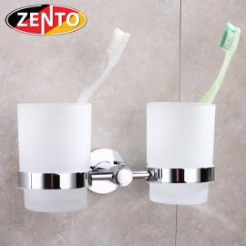 2 cốc thủy tinh kèm kệ đỡ inox Zento HA4623
