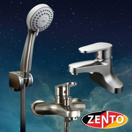 Cặp đôi sen tắm và vòi lavabo Inox304 Zento CB019