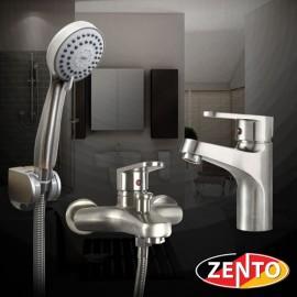 Cặp đôi sen tắm và vòi lavabo Inox 304 Zento CB001