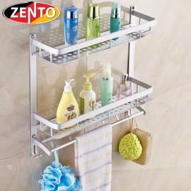 Giá để đồ, treo khăn 2 tầng hợp kim nhôm Zento OLO 502-9