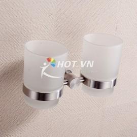 Kệ đỡ kèm 2 cốc thủy tinh Kailang 8608
