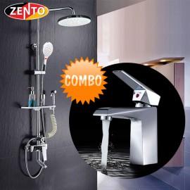 Combo sen cây & vòi lavabo Zento KM113