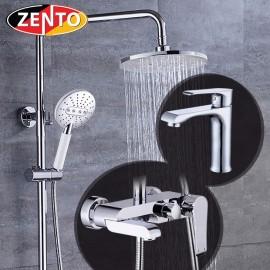 Combo sen cây và vòi lavabo Crystal series Zento KM119