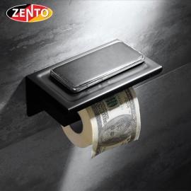 Lô giấy vệ sinh inox304 Black series Zento HC6815