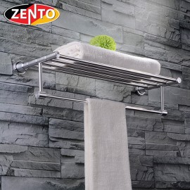 Giá để đồ kết hợp treo khăn hợp kim nhôm Zento LS043