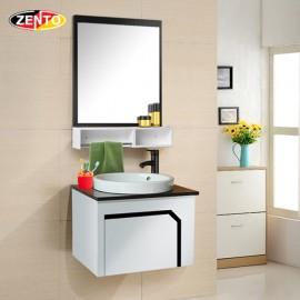 Bộ tủ, chậu bàn đá, kệ gương Lavabo ZT-LV899