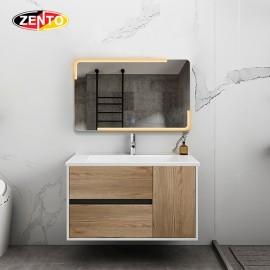 Bộ tủ lavabo gương đèn Led ZT-LV976E (cánh Laminate vân gỗ)