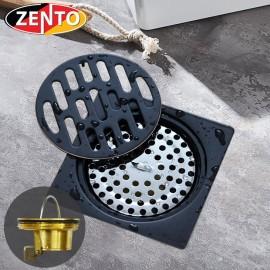 Thoát sàn chống mùi Black series Zento ZT541-1L (100x100mm)