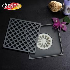 Thoát sàn chống mùi Black series Zento ZT674-1B (150x150mm)