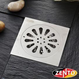Phễu thoát sàn chống mùi hôi inox Zento TS152-L (150x150mm)