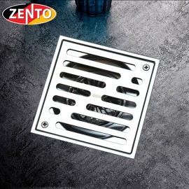 Thoát sàn chống mùi ban công inox304 Zento ZT562-2U (123x123)