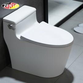 Bàn cầu 1 khối Luxury Zento BC3884 (nắp nhựa UF)