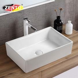 Chậu lavabo đặt bàn Zento LV6141 (590x385x160mm)