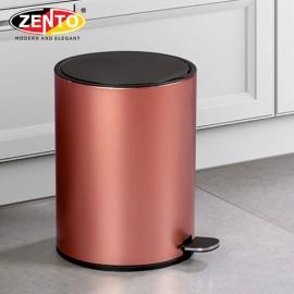 Thùng rác inox đạp chân nắp êm HC1240-Rose Gold