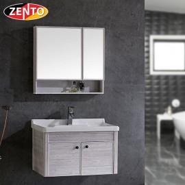 Bộ tủ, chậu, kệ gương Lavabo ZT-LV1056 (Aluminum)